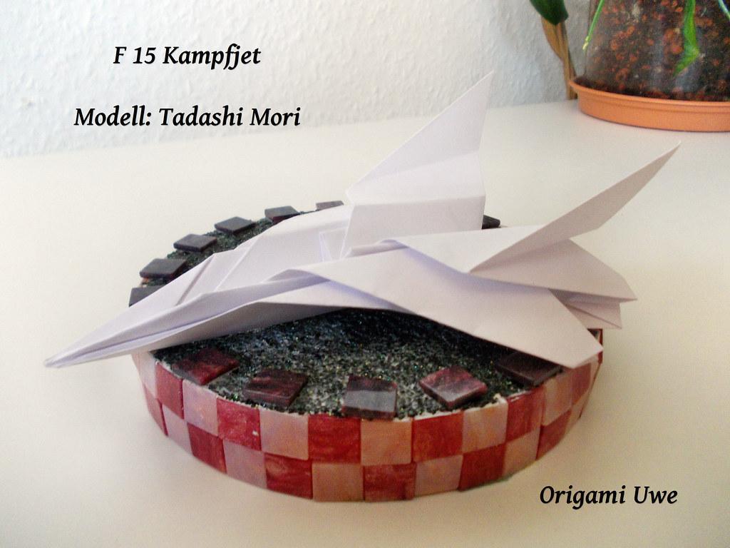 April 22nd 2015 Origami F15 Eagle Jet Fighter paper plane I made ... | 768x1024