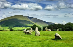 A portion of Castlerigg Stone Circle, England, UK (Beardy Vulcan) Tags: england mountain june nationalpark spring day cloudy lakedistrict cumbria keswick fell saddleback bronzeage 2012 neolithic stonecircle castlerigg lakedistrictnationalpark blencathra romanleadmining