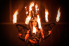 Fire Priestess (Mary Adrenaline) Tags: arizona woman hot fire model dancer burning exotic portraiture scottsdale 2012 fireperformance nyla firefans performingartist nylafarraz pussycatsalternativedancestudio maryadart firepriestess exoticdanceartist thehighpimpstress