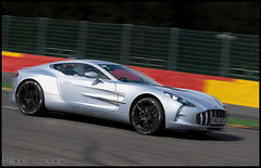 The NEW Aston ONE 77 (Philippe Coupatez) Tags: auto blue car sport speed rouge nikon track martin bleu circuit luxe aston astonmartin d700 yaune nikond700 one77 coupatez coupatezphilippe