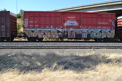 (huntingtherare) Tags: train bench graffiti boxcar voltron freight sry catalyst rollingstock benching