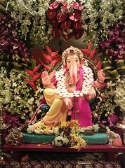 Ganesh Idol (acharekar) Tags: flower home festival decoration ganesh idol mumbai ganapati bappa murti mangal vinayak amey ganeshotsav ganeshfestival moraya gajanan nokialumia800