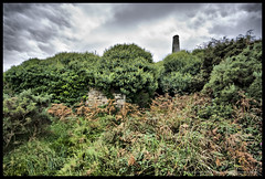 Boscean Mine Building Remains (Light Painted Cornwall) Tags: world houses chimney house west heritage st tristan tin site mine cornwall engine stack mining just winding chimneys drea stacks cornish wheal whim barratt owles boscean