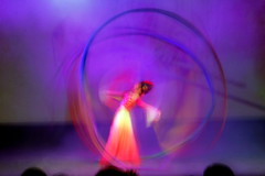 Drawing Circles in The Air -- Ribbon Dance (CharlieBrown8989) Tags: blue red people white girl yellow canon flickr state head air dancer chi kungfu ribbon tamron charliebrown8989 purper picasa3