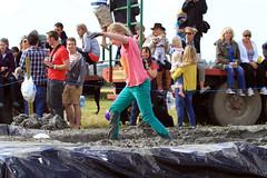 Taking a Short-Cut (lens buddy) Tags: uk girls rain sport canon children fun shower glamour photographers somerset rafting raft spectators fancydress muchelney presenters langport thorney eos50d eos7d sydenhamcameraclub crazyrafting lowlandgames2012