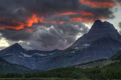 Ablaze (dbushue) Tags: sunset mountains clouds evening nikon montana dusk glaciers glaciernationalpark peaks 2012 ablaze ignite gnp coth swiftcurrentlake manyglacier supershot absolutelystunningscapes d7000 damniwishidtakenthat coth5 dailynaturetnc12 tpslandscape