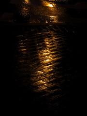 Pavement (viktrav) Tags: light reflection philadelphia phl pavers wetstreet wetpavement