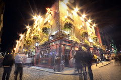Temple Bar at night, Dublin, Ireland (Dragos Cosmin- Getty Images Artist) Tags: street city longexposure people horizontal architecture night facade pub europe crowd tourist an nightlife barra groupofpeople templebar westerneurope countydublin dublinireland fourpeople citystreet northerneurope urbanscene republicofireland colorimage smallgroupofpeople buildingexterior teampaill leinsterprovince