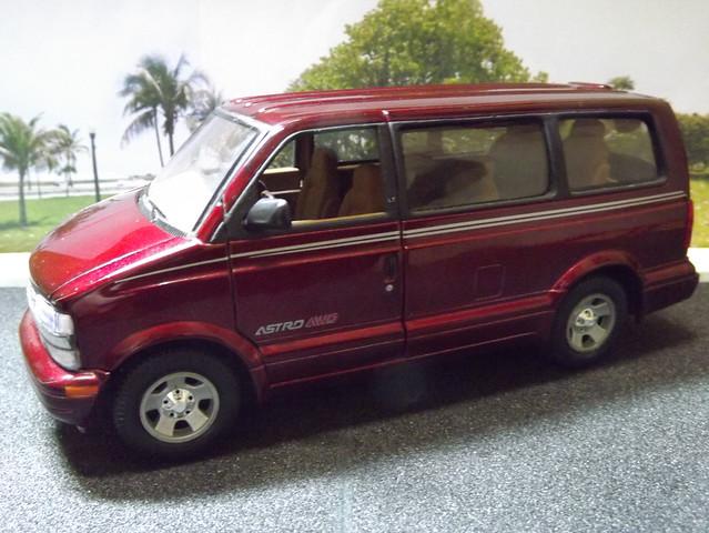 chevrolet astro 124 sunnyside awd carrinho lt miniatura diecast
