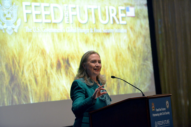Secretary Clinton Delivers Remarks at an Event for Feed the Future: Partnering with Civil Society