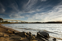 cloudchasing (dK.i photography) Tags: bridge sunset beach clouds fishing day waves cloudy maryland boulders blueskies annapolis cloudscape severnriver cloudchaser ef1740f40l moreclouds canon5dmkii singhrayrgnd