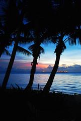 Saipan sunset (an.yonghua) Tags: island mariana 2012 saipan managaha moon 18105mm  nikond40x 201209 honey