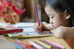 coloring (vudie) Tags: colors girl education child books coloring learning