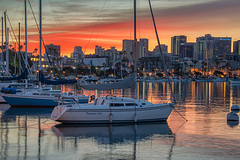 Harbor Light (mojo2u) Tags: california morning skyline sunrise harbor sandiego sandiegobay nikon28300 nikond700