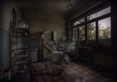 dermatology (andre govia.) Tags: urban never abandoned buildings photo shot bottles photos decay room andre creepy explore stop doctor exploration operation urbex examination govia