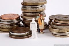 Financial crisis (helppo) Tags: woman man money finland helsinki coins police polizei crisis hostage preiser