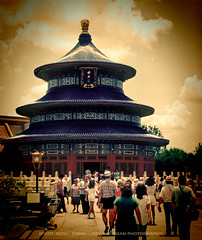 EPCOT Center - China Pavilion (Jeff_B.) Tags: china temple epcot chinese slide fair disney disneyworld 80s pavilion 1983 internation epcotcenter crowds worldsfair worldshowcase sklar martysklar cardwalker