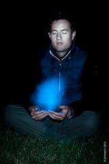 Meditation Fireball (smashingraph) Tags: light lightpainting smoke mystic electroluminescent fumée elwire electroluminescentwire