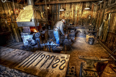 The Alchemist (eCHstigma) Tags: california metal hammer nikon iron places tools fremont tokina workshop blacksmith forge furnace ultrawide hdr ardenwood anvil smithy d600 1116mmf28