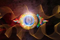 Culvertising (- Hob -) Tags: longexposure light lightpainting art underground perception movement time space tunnel led memory tyneside culvert cathode airraidshelter singleexposure 4409 sooc timeandmind 何後処理ん 无后处理
