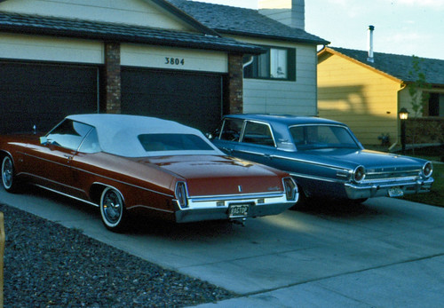 1971 Oldsmobile Delta 88 Royale Convertible and 1963 Ford Galaxie 500 4 Door Sedan