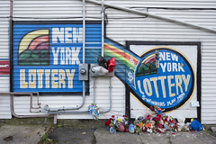 Memorial, New York Lottery Advertisement (metroblossom) Tags: autumn newyork fall buffalo advertisement upstatenewyork e1 westernnewyork newyorklottery img6994 buildingmemorial