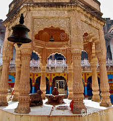 #Old Temple #Dholpur #Rajastan #India......DSC_0220 (subirbasak) Tags: india colour architecture work temple bell god religion indoors column marble spirituality ornate rajasthan oldtemple placeofworship architecturalfeature dholpur marblework subirbasak traditionallyindian gettyimagesindiaq4