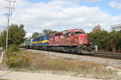 DM&E 6096 at Deerfield, IL (Metra 614) Tags: train sub trains il cm locomotive deerfield cp dme 276 emd sd402 6096