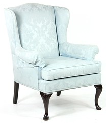 2. Queen Anne style Upholstered Wing Chair