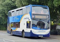 Stagecoach South 15604 (GX10 HBO) Chichester 20/7/16 (jmupton2000) Tags: gx10hbo coastliner 700 alexander dennis enviro 400 scania stagecoach south uk bus southdown coastline sussex