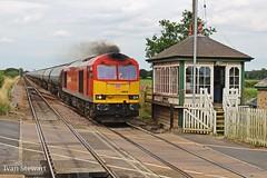 Swinderby 60020 6M00 1430 Humber - Kingsbury 210716 (ACTON WELLS JUNCTION) Tags: swinderby station level crossing signal box mrco midland railway class 60 60020 tanks humber kingsbury