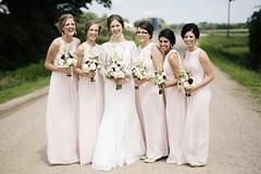 Bridal Party 1 (Nick - n2photography) Tags: wedding nebraska party fun columbus group bridesmaids canon5dsr sigma50mm14art happy smiles girls women pink country road