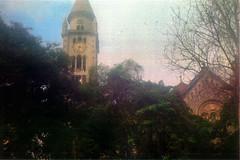 Sacred (materasu) Tags: jungle city church composition lowlight green olympus trip