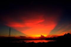 ~Rays after sunset~ >>>>>>1 (~~ASIF~~) Tags: canon60d outdooor sunset sunrays cloud sky dusk color texture rare nature evening moments bangladesh framebangladesh