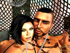 Untitled (PREACHMANSON) Tags: firestormsecondlife love lust home life man woman wifey wife lover tattoo eyes