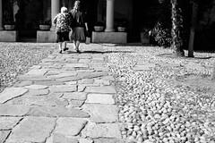 I've took a long walk (coachgodzup1) Tags: life contrast blackandwhite biancoenero whiteandblack black granny woman women fujifilm xt10 path texture street candid hipshoot xf27mm