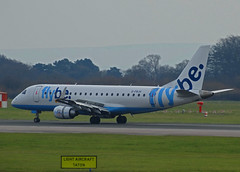 G-FBJH Embraer 175 of Flybe (SteveDHall) Tags: gfbjh embraer e175 flybe manchester
