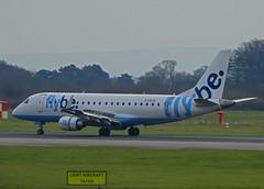 G-FBJH Embraer 175 of Flybe (SteveDHall) Tags: gfbjh embraer e175 flybe manchester