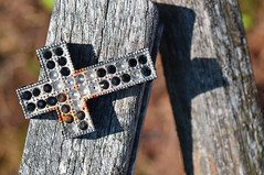 Pimped out cross (Holger Ollema) Tags: sunset jesus cross hd abandoned rusty old urbanphotography urban wood lithuania hillofcrosses religious crucified