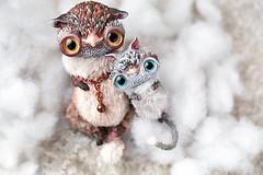 griffins (oso_polar) Tags: handmade doll toy tiny griffin artdoll arttoy
