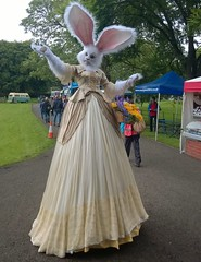 Mary the Faerie at Appleby (Tony Worrall) Tags: england northern uk update place location north visit area county attraction open stream tour country welovethenorth cumbria appleby fairy stiltwalker entertain woman tall mary faerie marythefaerieatappleby theapplebysummerpudding event show fun