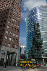 Potsdamer Platz (Bjrn O) Tags: berlin architektur haus architecture house brogebude bro bros office building officebuilding officespace tourismus tourism sonycenter potsdamerplatz bus city stadtrundfahrt