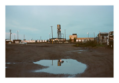 Train Yard. (Drew Amyot) Tags: drewamyot 2016 edmontonphotography nikonf4 kodakportra160 landscape industrial