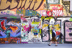 Mrs. Teacher (C_MC_FL) Tags: person lady woman street streetphotography donaukanal graffiti vienna urban city citylife walking alone colors canon eos 60d tamron b008 18270 wall art dame frau strase wien stadt stdtisch stadtleben gehen alleine farben bunt wand kunst fotografie photography streng strict