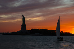 New York_Day 12 (regis.muno) Tags: newyork manhattan usa nikond7000 libertyisland ladyliberty sunset statuedelalibert