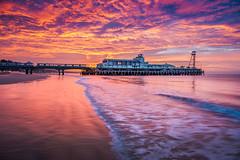 Hometown Sunrise (Reuben Cohen) Tags: bournemouth pier dorset beautiful britishlandscape beach british barbados postcard romantic reflection uk jurassiccoast coast white sands sunrise sunset landscapephotography ocean