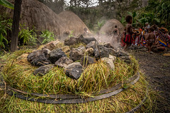 Pig Feast (tehhanlin) Tags: indonesia papua westpapua irianjaya wamena jayapura nusantara sony a7r2 a7rm2 humaninterest tribe thedanis sukudani portrait pigfeast earthoven ngc