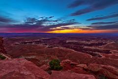 The Devil's Palm (Godspeed70) Tags: sunrise sky morning canyon utah canyonland grandcanyon desert dawn landscape blue orange mountain rock beauty grandviewpoint