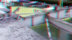 Sloop Grote Wijnbrug Rotterdam 3D (wim hoppenbrouwers) Tags: wijnhaven sloop demolition anaglyph stereo redcyan grote wijnbrug rotterdam 3d grotewijnbrug brug bridge