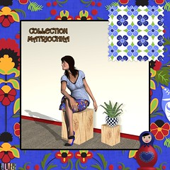 Matriochka_Outfit_Mockup (vannina_sf) Tags: matrioshka matriochka russia russian pattern folk textile fabric outfit sewing spoonflower model tee skirt matryoshka blue red floral fashion